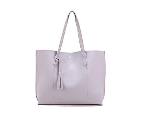 Nodykka Women Tote Bags Top Handle Handbags PU Faux Leather Tassel Shoulder Purse