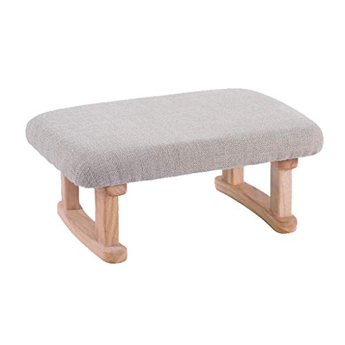 stool Sofá hogar algodón y lino simple creativo dormitorio sala de estar banco zapatos perezosos sillas (color: gris claro, tamaño: B)