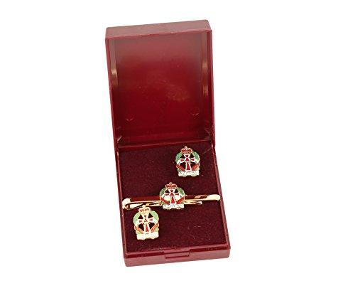 Queens alexandra's royal de l'armée allaitement corps Boutons de manchette et cravate set cadeau.