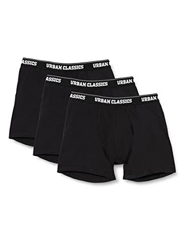 Urban Classics Men Boxer Shorts Bxer, 3X Negro, XXL para Hombre