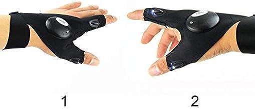 كشاف يدوي مدمج مع القفازات مع 2 ليد للإضاءة , لجميع الاستخدامات
