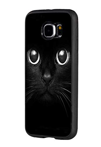 Galaxy S6 Case,Cute Cat Face Design Slim Impact Resistant Shock-Absorption Rubber Protective Case Cover for Samsung Galaxy S6