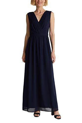 ESPRIT Collection Damen 040EO1E322 Kleid, 400/NAVY, 42