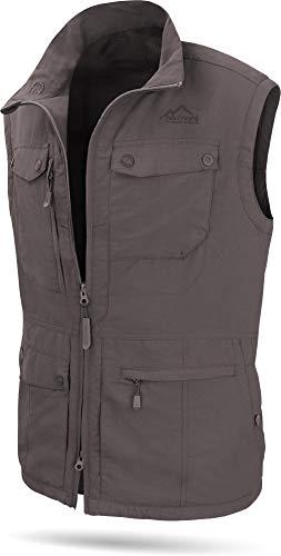 normani Herren Outdoor Weste mit atmungsaktivem Sonnenschutzmaterial 50+ (XS-5XL) Farbe Dunkelgrau Größe XL