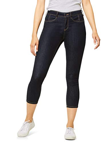 Street One Damen 373162 York Jeans, Dark Blue Rinsed wash, W29/L26