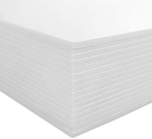 16 Pack Foam Board 11.7x16.5 Inch, CBTONE 3/16 Inch Thick White Polystyrene Foam Sheet for Photo Framing, Art Display and Handicraft