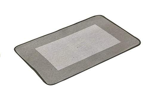 HomeLife - Tappeto Cucina Cotone Antiscivolo - Passatoia Rettangolare per Corridoio/Sala da Pranzo Stile Moderno - Lavabile in Lavatrice - qualità Made in Italy Lavorazione Jacard - Grigio - 60X180