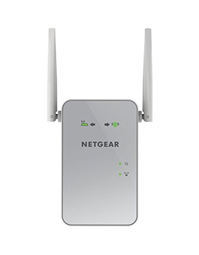 Netgear EX6150-100PES AC1200 Dual-Band Universal WLAN Range Repeater (RJ-45, 1200Mbit/s, Access Point) Weiß/silber