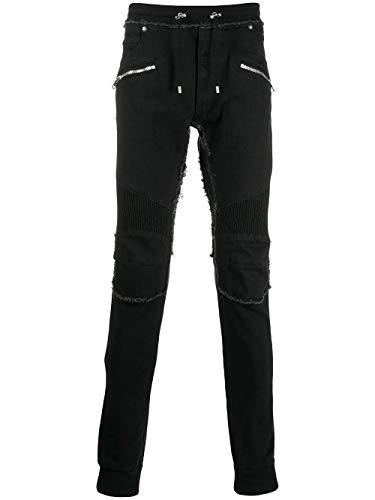 Luxury Fashion | Balmain Heren SH15253Z1800PA Zwart Synthetische Vezels Broeken | Herfst-winter 19