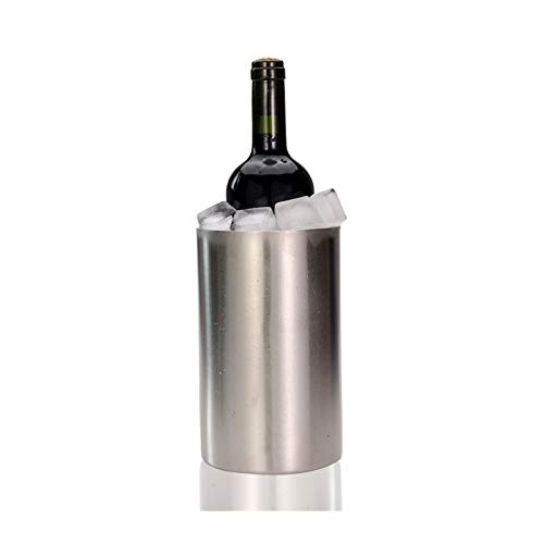 MINGMIN-DZ Durable Cubierta de Vino - Cubo de Hielo Cubo de Doble Pared de Acero Inoxidable: Uso Multiuso como Soporte de utensilio de Cocina y jarrón de Flores