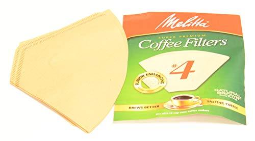 Vervanging # 4 nummer 4 natuurlijke bruine super premium koffiefilters 5 pack voor Melitta koffiemachines