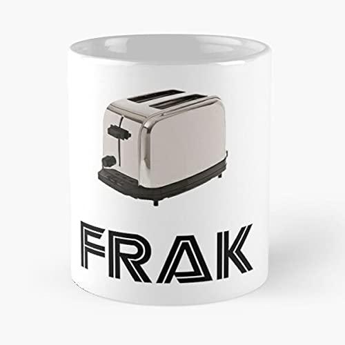 Frak SciFi Galactica Toaster Funny Battlestar Cylon - Le Meilleur 11 oz 15 oz fabriqué à partir de Tasse à café en céramique de marbre Blanc I - Personnaliser