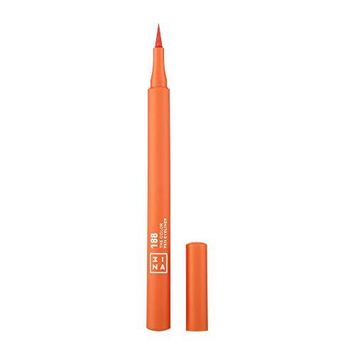 3ina MAKEUP Vegan Cruelty Free, The Color Pen Eyeliner 188, Orange Filz-Eyeliner, Eyelinerstift, Langhaltende Definition, Hochpigmentiert, 8 Farben, Orange