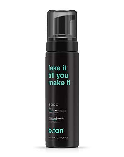 b.tan Self Tan Mousse - Fake It Till You Make It - Sunless Tanner for Fast, Natural Looking Tan, 6.7 Fl oz