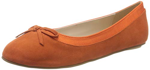 Buffalo Damen ANNELIE Geschlossene Ballerinas, Orange (Orange 001), 38 EU