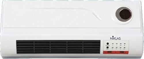 Thermoventilateur mural PTC Nikkas « Split Comfort » avec vaporisateur en céramique.