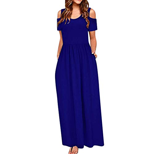 JXQ-N Damen Kleider, Damen Kleid Abendkleid Schulterfreies Einfarbig Coacktailkleid Jerseykleid Skaterkleid Elegant Maxi Partykleid