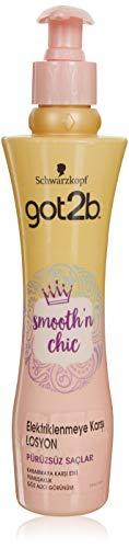 Got2B Smooth'n Chic Lozione Anti Crespo per Capelli, Effetto Lisciante e Modellante, Protegge dal Calore dello Styling, Formato 200 ml