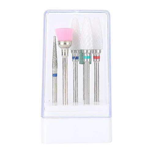 Nagelslijpkop, 7-delige professionele elektrische nagelboren set manicure pedicure accessoire voor alle clip-on type en pen type nagellak
