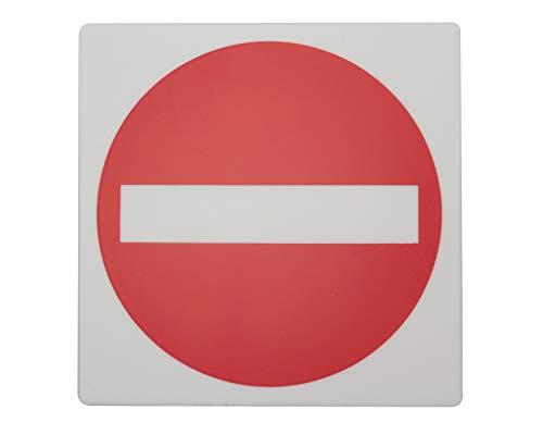 光 E510-16プレート 通行 立入禁止100×100×2mmテープ付き 03727537-001