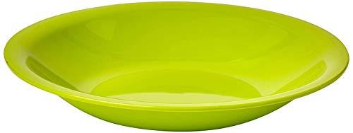 Rotho Caruba tiefer Plastikteller Mehrweg, Kunststoff (PP) BPA-frei, grün, 21,0 x 21,0 x 3,5 cm