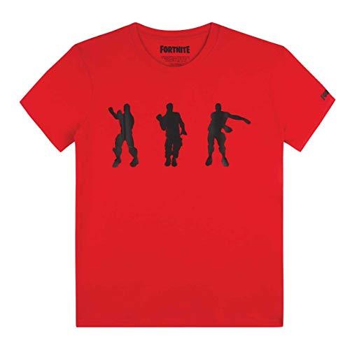 Fortnite Niño Camisetas, Polos y Camisas Rojo, 164/14 Años