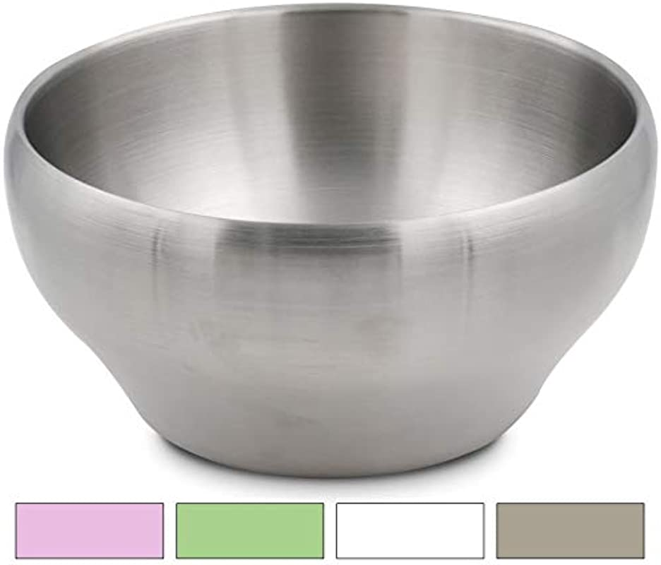 Stainless Steel Double Wall Vacuum Insulated Bowl 24 Oz Perfect Bowls For Serving Ice Cream Or Hot Soup Stainless Steel