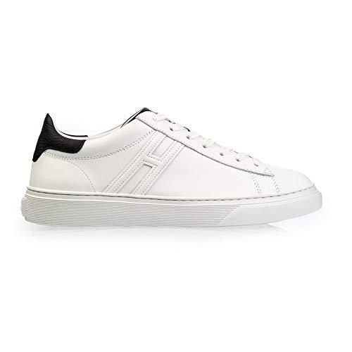 Hogan Hxm3650j960kfn0001 Sneaker Cassett, 8.5, Bianco/Nero