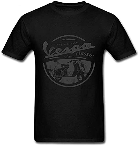 Vespa T Shirt Vintage for Men Italy Scooter Short Sleeve Classic