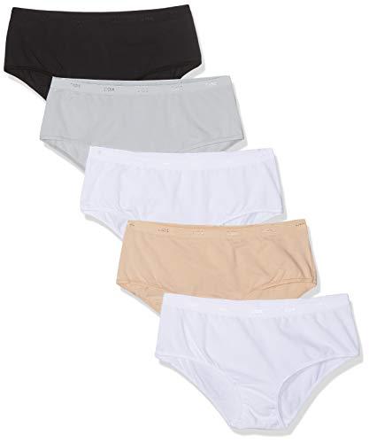 Dim Boxer Pocket Ecodim x4, Multicolore (Noir/Peau/Blanc/Gris/Blanc 5bm), 44 (Lot de 5) Femme