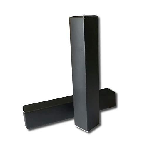 ANZKA 50 Pcs Empty Lip Gloss Box 4.72x0.78x0.78' Mascara Tube Packaging Matte Texture Black Lipgloss Kraft Paper Case Glaze Balm Organizer Storage DIY Make-up Sample Luxury Holder Wrapping