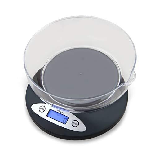 LIYG Báscula De Cocina Báscula Digital para Hornear Escala Electrónica De Precisión A Prueba De Agua, con Tapete Antideslizante En La Parte Inferior, 5 Kg Escala electrónica