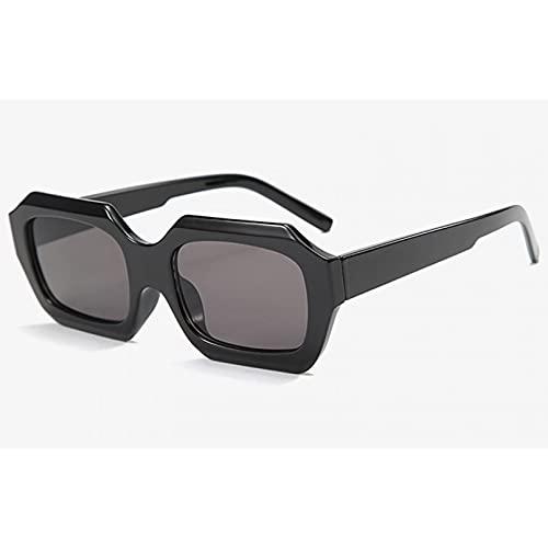 Tanxianlu Gafas de Sol de Moda Vintage para Mujer Polygon Colorful Ladies Gafas de Sol para Hombres Uv400 Brown Purple,A