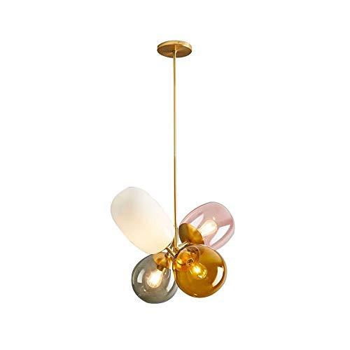 U/D Araña Araña de Color Globos Salón Comedor Dormitorio Sitio de la Cama Arte Infantil lámpara de Cristal 42 * 48cm MJZHJD