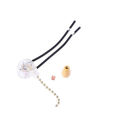 LEDMOMO Cadena de interruptor de luz, cadena de extracción de interruptor de 3 velocidades para reemplazo de lámpara de luz de ventilador de techo