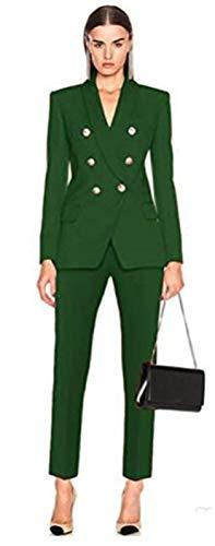 2 Pcs Women's Pantsuits Office Women Suits Blazer Tuxedo Pants Prom Tuxedo Custom Made Green