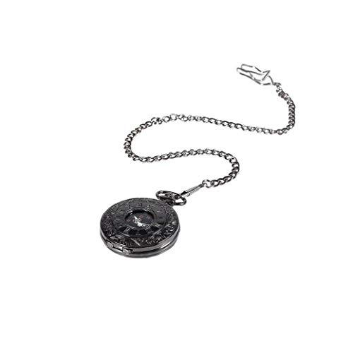 Uayasily Patrón Romana Exquisito Reloj De Bolsillo Antiguo Reloj Retro del Dial De Lujo Y La Cadena De Reloj del Número Romano Reloj De La Cadena (Superficie Y Cadena Fina)