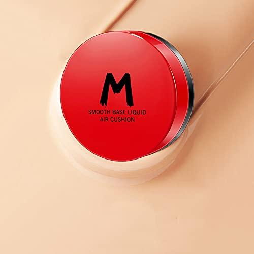 Fond de Teint Coussin et Poudre 2-en-1, Fond de Teint Poudre à couvrance Totale, Anti-cernes Cushion BB Cream hydratant Durable sans contrôle de l'huile de Maquillage (Couleur Naturelle)