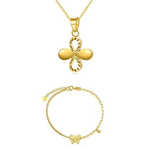 SISGEM Gold Flower Necklace