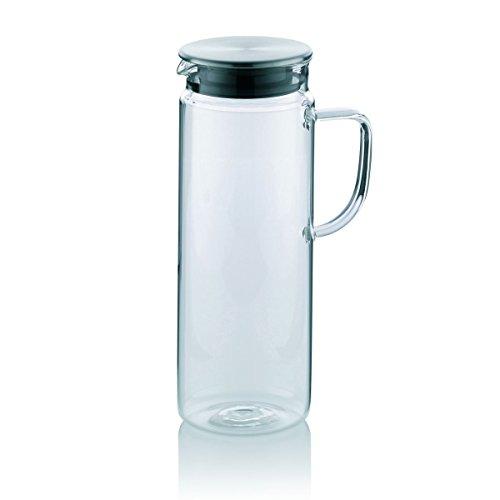 Kela 11398 Saftkrug aus Glas, Edelstahl-Deckel, 1,6 l, Pitcher