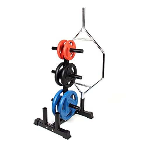 FSJKZX Barbell Home Gym Rack De Almacenamiento con Ruedas Opian Squat Deadlift Press De Banca Ejercicio Brazo Músculo Marco Móvil (Color : Black, Size : 643 * 568 * 1025mm)