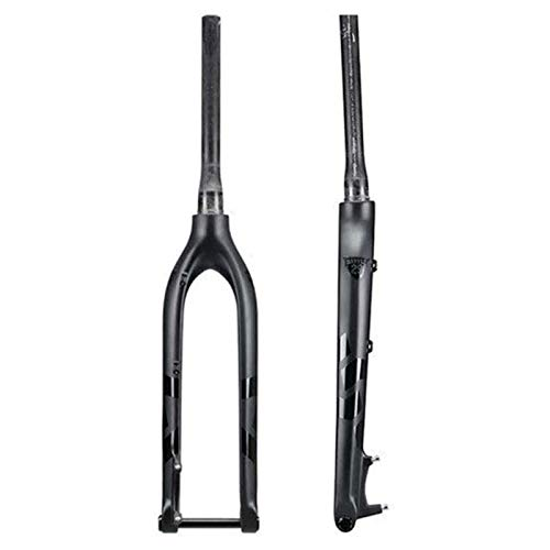 LLGHT Bike Front Fork Suspension Fork Bicycle 29Er Carbon Fork Rigid 27.5 Bicycle MTB Front Fork Carbon Rigid Fork Axle Thru 15X100mm 27.5Er Mountain Forks (Size : 29 inch)