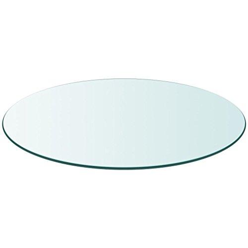 vidaXL Tablero Superficie Redonda de Mesa de Cristal Vidrio Templado 800 mm