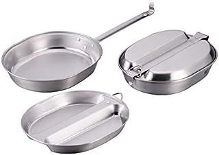 メスキットパン メスティン ポータブル飯盒 アウトドア 炊飯 山飯 バーべキュー キャンプ用品 調理器具 Lサイズ