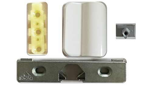 Balkontürgriff aus Alu in weiß oder schwarz + Roto Türschnäpper Eurofalz (weiß)