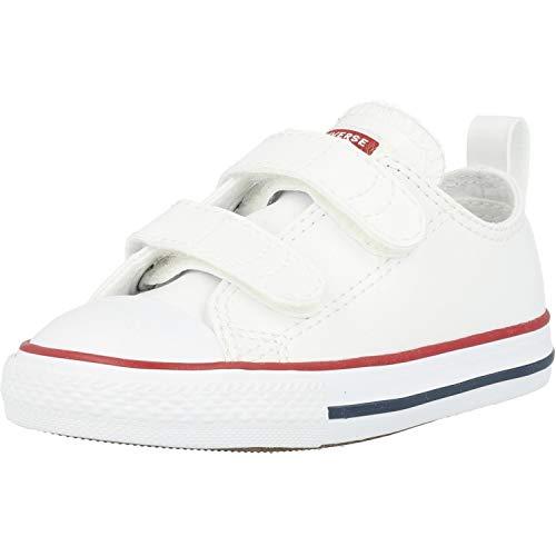 Converse Chuck Taylor CT 2V Ox, Sneaker Unisex niños, White, 23 EU