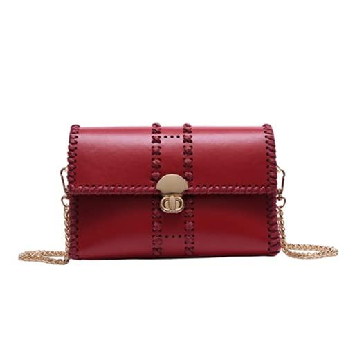 SIMEISM Bolso de hombro de moda Bolso femenino de las mujeres Satchels Bolso de mensajero casero pequeño bolso cuadrado