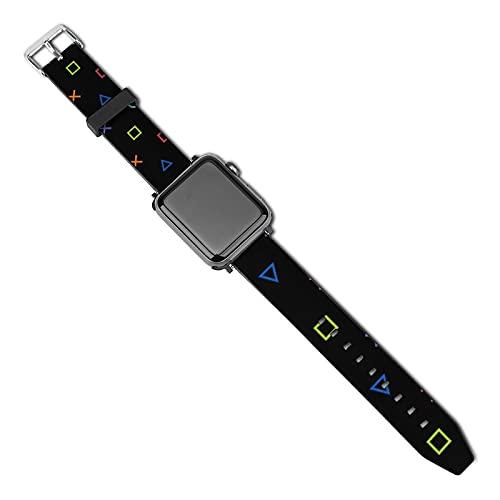 Compatible con Apple Watch Band Watch Correa de reloj Colofrul Gamer 38mm 40mm Mujeres Hombres Niñas Niños PU Correa de repuesto para iWatch ries 5 4 3 2 1