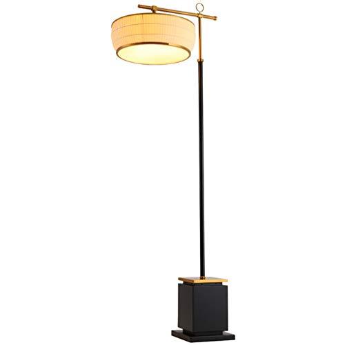 Lámpara De Pie Verde Bronce cuerda del tirón Lámpara nuevo chino clásico Plug-in interruptor de pie de acrílico oro en paño Hierro forjado Vertical lámpara de mesa Lámpara De Piso