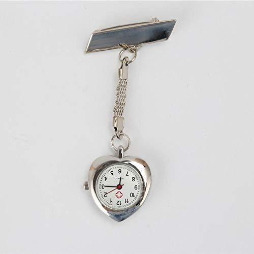 Cxypeng Pulsuhr Krankenschwester,Klassische herzförmige Krankenschwesteruhr, Geschenkuhr-Armbanduhr-B,Taschenuhr Krankenschwestern Uhr